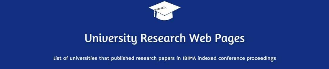 University Research Web Pages